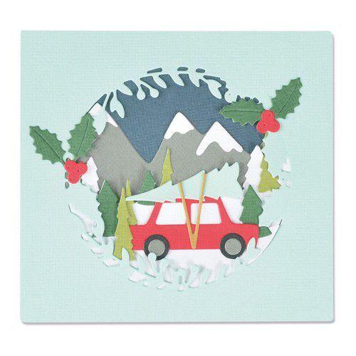 Sizzix Thinlits Die Set 10PK - Winter Woodland 665340 Olivia Rose (07-21)
