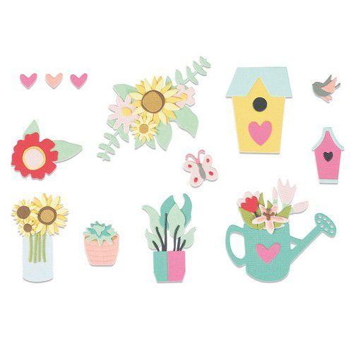 Sizzix Thinlits Die Set 5PK - Floral Garden 665341 Jessica Scott (07-21)