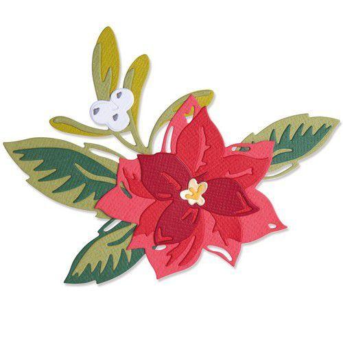 Sizzix Thinlits Die Set 13PK - Layered Christmas Flower 665342 Lisa Jones (07-21)