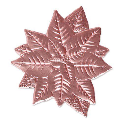 Sizzix 3-D Impresslits Embossing Folder - Poinsettia 665354 Kath Breen (07-21)