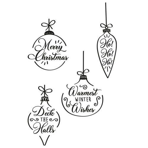 Sizzix Clear Stamps Set 4PK - Christmas Baubles 665355 Olivia Rose (07-21)