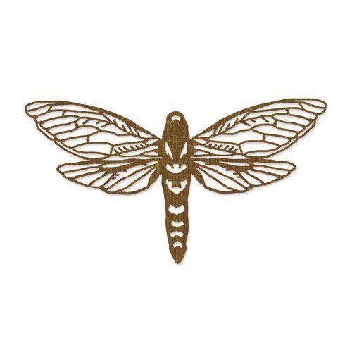 Sizzix Thinlits Die - Perspective Moth 665434 Tim Holtz  (07-21)