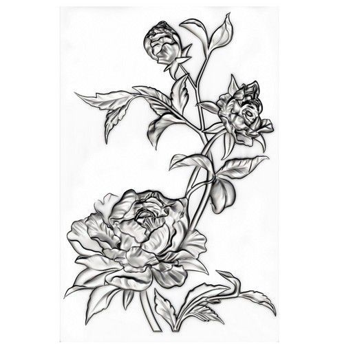 Sizzix 3-D Texture Fades Embossing Folder - Mini Roses 665632 Tim Holtz  (07-21)