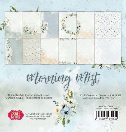 Craft&You Morning Mist Big Paper Set 12x12 12 vel CPS-MM30 (07-21)