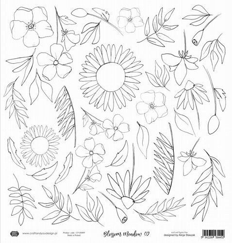 Craft&You Blossom Meadow Watercolor paper 250gr. 12x12 CP-BM09 (07-21)
