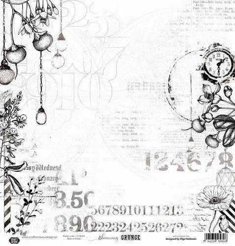 Craft&You Blooming Grunge Watercolor paper 250gr. 12x12 CP-BG09 (07-21)