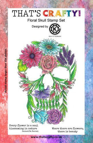 That's Crafty! Clearstamp A5 - Floral Skull 10851 (07-21)