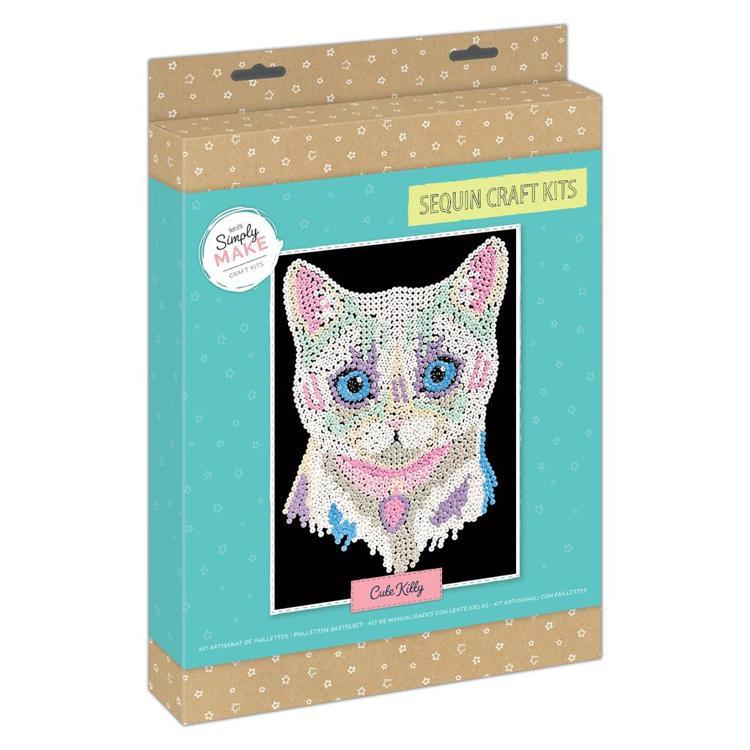 Simply Make Sequin Craft Kit - Cute Kitty