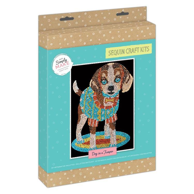 Simply Make Sequin Craft Kit - Dog in a Jumper