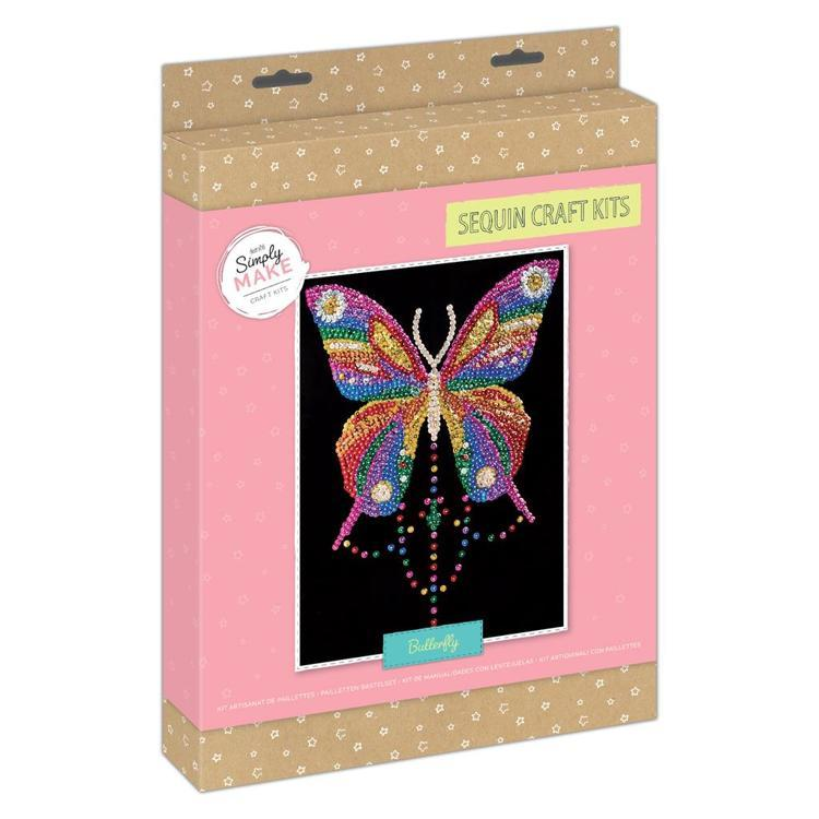 Simply Make Sequin Craft Kit - Butterfly