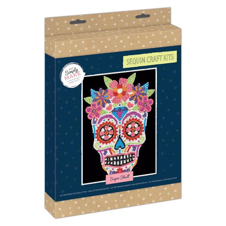 Simply Make Sequin Craft Kit - Sugar Skull