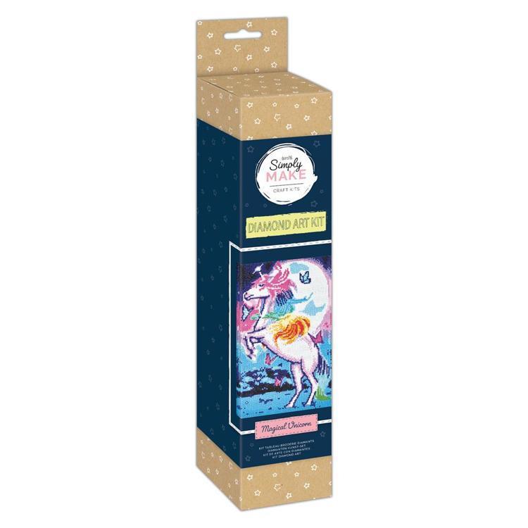 Simply Make Diamond Art Kit - Magical Unicorn
