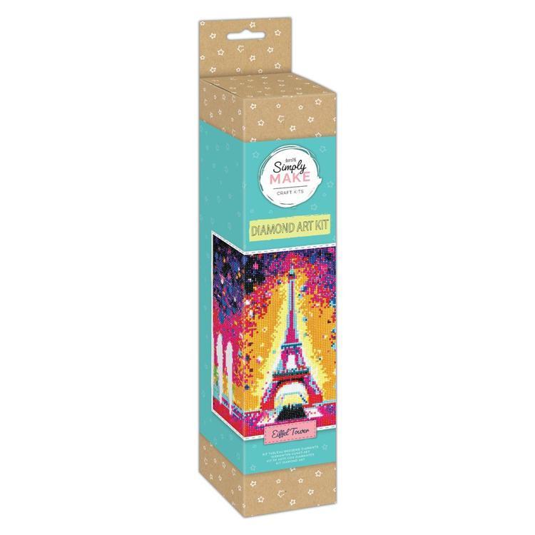 Simply Make Diamond Art Kit - Eiffel Tower