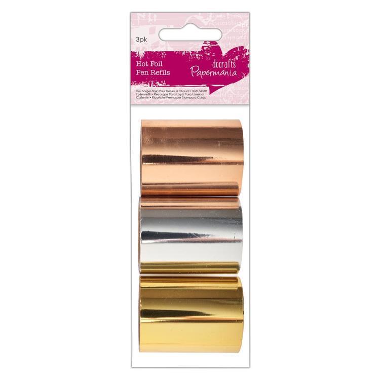Hot Foil Pen Foil Refils (3pk) - Gold Silver