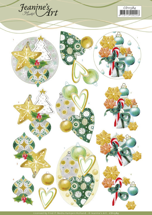3D Cutting Sheet - Jeanine's Art - Christmas Baubles
