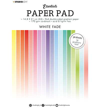 SL Paper Pad Double sided Gradient White fade Essentials nr.21