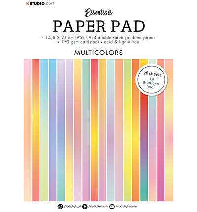 SL Paper Pad Double sided Gradient Multicolors Essentials nr.20