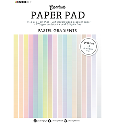 SL Paper Pad Double sided Gradient Pastel Essentials nr.19