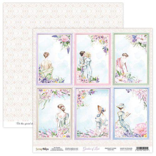 ScrapBoys Garden of love paper sheet DZ GALO-06 190gr 30,5x30,5cm (06-21)