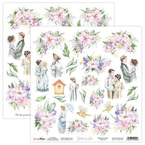 ScrapBoys Garden of love paper cut out elements DZ GALO-07 190gr 30,5x30,5cm (06-21)