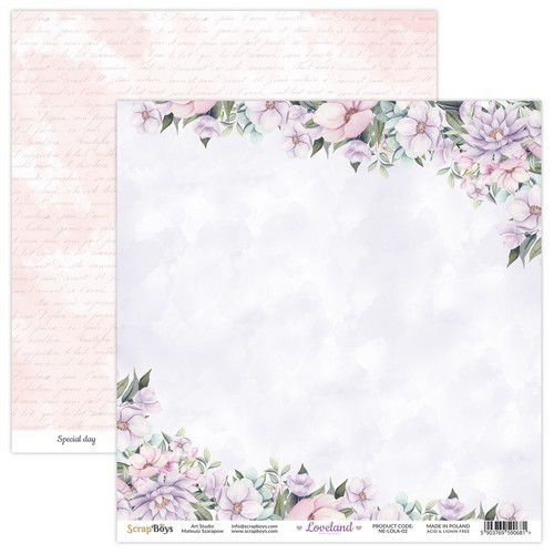 ScrapBoys Loveland new edition paper sheet DZ NE-LOLA-02 190gr 30,5x30,5cm (06-21)