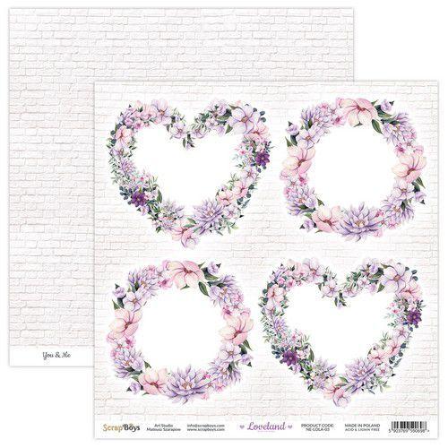 ScrapBoys Loveland new edition paper sheet DZ NE-LOLA-03 190gr 30,5x30,5cm (06-21)