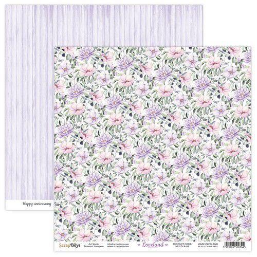 ScrapBoys Loveland new edition paper sheet DZ NE-LOLA-04 190gr 30,5x30,5cm (06-21)