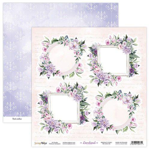 ScrapBoys Loveland new edition paper sheet DZ NE-LOLA-05 190gr 30,5x30,5cm (06-21)