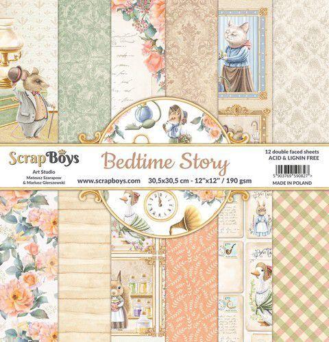 ScrapBoys Bedtime story paperset 12 vl+cut out elements-DZ BEST-08 190gr 30,5x30,5cm (06-21)