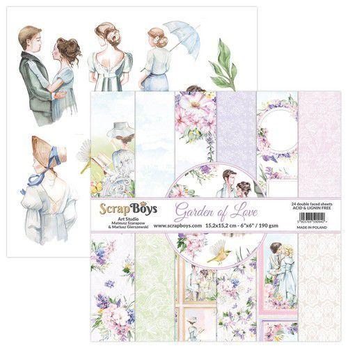 ScrapBoys Garden of love paperpad 24 vl+cut out elements-DZ GALO-09 190gr 15,2x15,2cm (06-21)