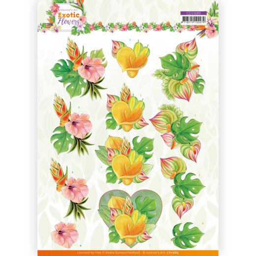 3D cutting sheet - Jeanine's Art - Exotic Flowers - Orange Flowers
