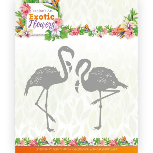 Dies - Jeanine's Art - Exotic Flowers - Flamingo's