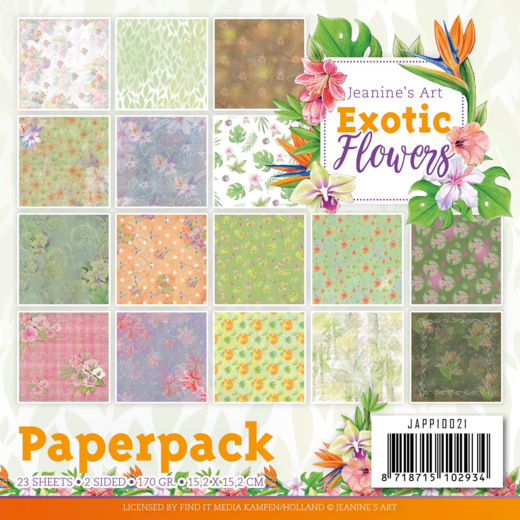 Paperpack - Jeanine's Art - Exotic Flowers