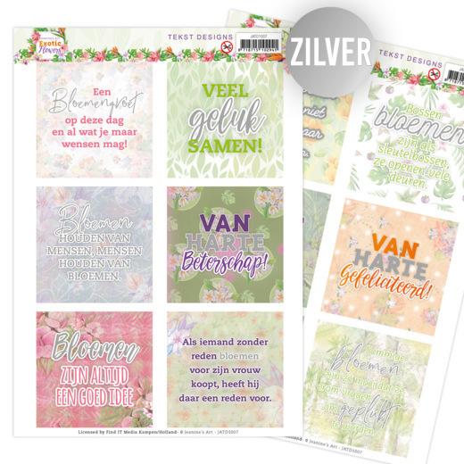 Tekst Designs - Jeanine's Art - Exotic Flowers (NL)
