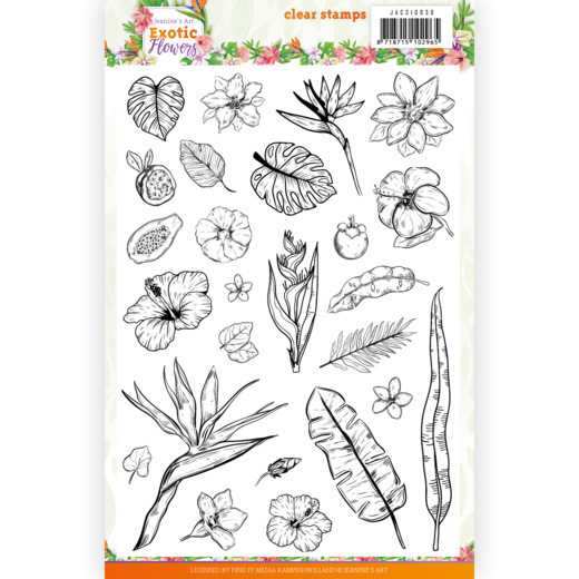Clear Stamps - Jeanine's Art - Exotic Flowers