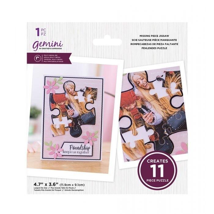 Gemini - Multimedia snijmal - Missing Piece Puzzel