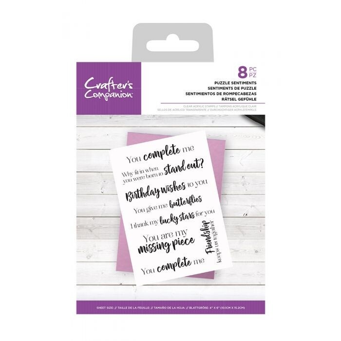 CC - Clearstamp - Puzzel Sentiments