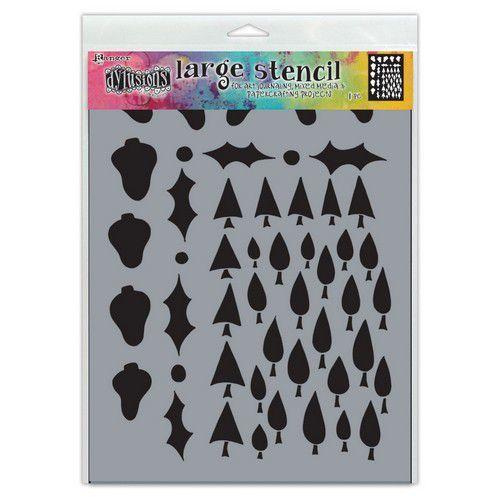 Ranger Dylusions Stencils Tree Border Lg DYS78050 Dyan Reaveley (07-21)