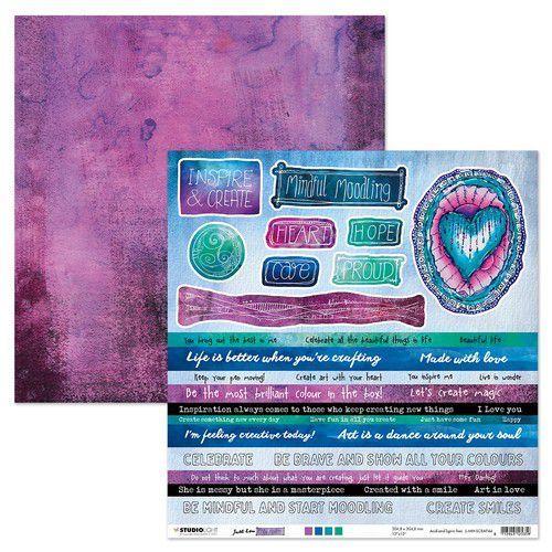 Studio Light Scrap Mindful Moodling nr.44 JL-MM-SCRAP44 305x305mm (07-21)