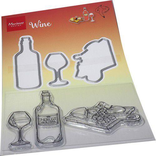 Marianne D Clear Stamp & Die Hetty's Wijn HT1665 120x205mm (08-21)
