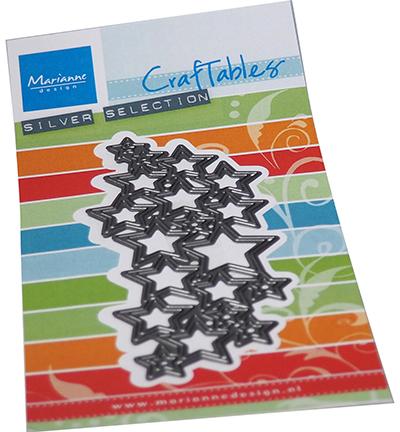 Marianne D Craftable Art textuur - Sterren CR1559 80x160mm (08-21)