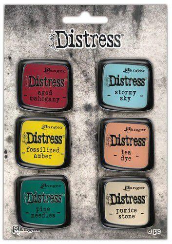 Ranger Distress Pin-Carded -Distress Pin Set 10 - 6 st TDZS73529 Tim Holtz (07-21)