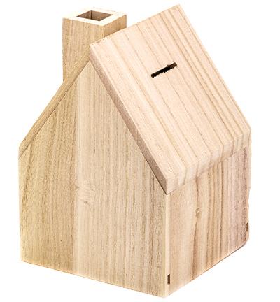 Spaarpot huisvorm met schoorsteen