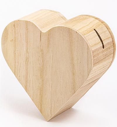 Spaarpot hartvorm paulownia