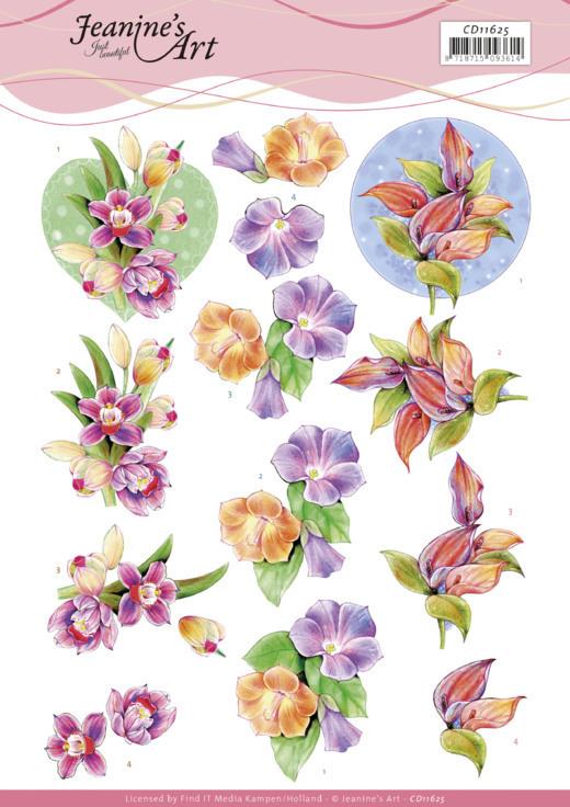 3D Cutting Sheet -Jeanine's Art -Orchid
