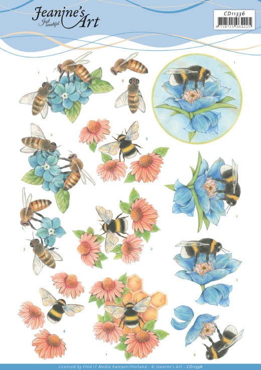 3D Cutting Sheet -Jeanine's Art -Bees and Flowers