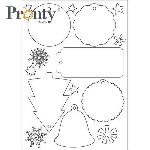 Pronty Embellish Kerst labels wit 472.700.011 (07-21)