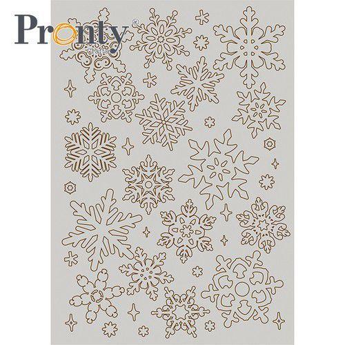 Pronty Grey Chipboard Sneeuwvlokken 492.001.019 A5 (07-21)