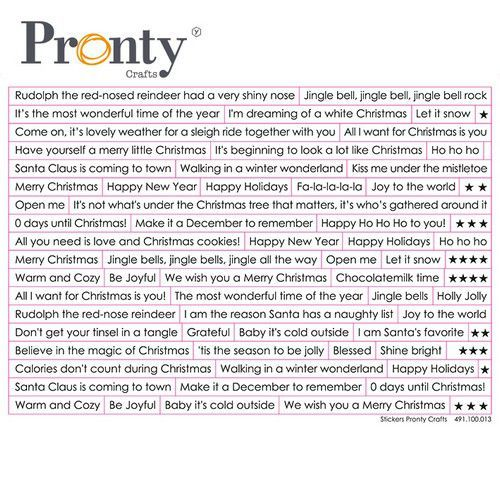 Pronty Stickers A5 Chistmas tekst (ENG) 491.100.013 (07-21)