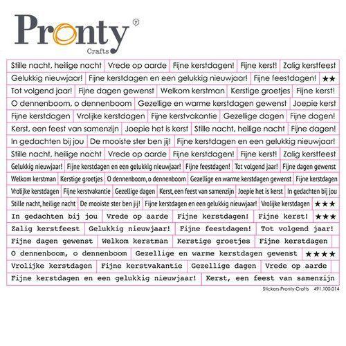Pronty Stickers A5 Kerst tekst 491.100.014 (07-21)